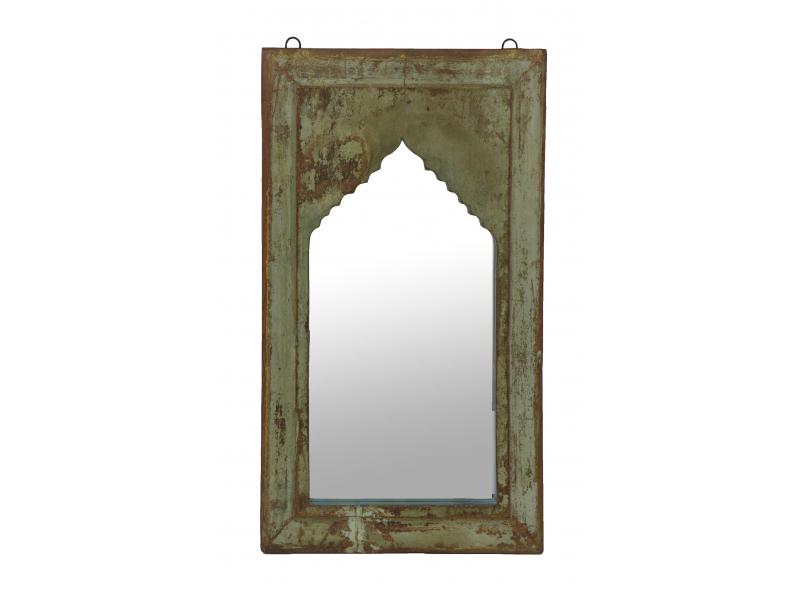 Zrcadlo v rámu z teakového dřeva, 36x4x64cm