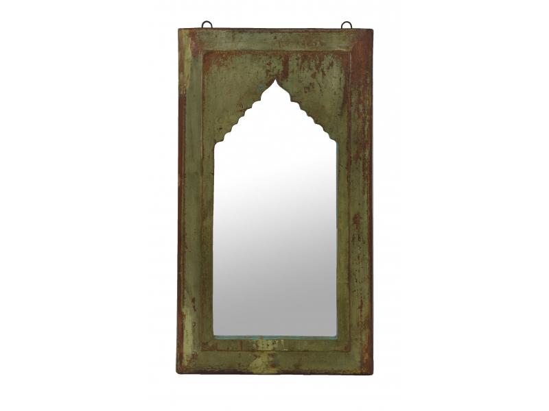 Zrcadlo v rámu z teakového dřeva, 35x4x64cm