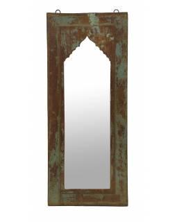 Zrcadlo v rámu z teakového dřeva, 30x4x74cm