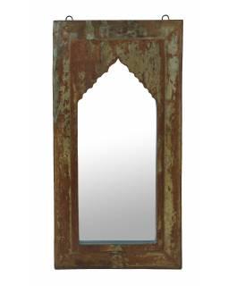 Zrcadlo v rámu z teakového dřeva, 35x4x68cm
