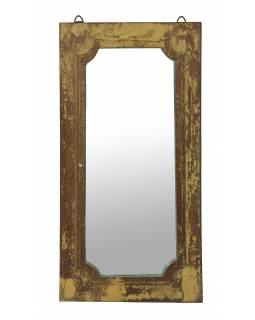 Zrcadlo v rámu z teakového dřeva, 34x4x65cm