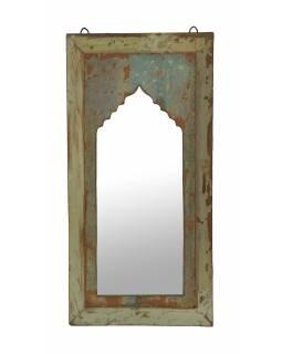 Zrcadlo v rámu z teakového dřeva, 33x4x67cm
