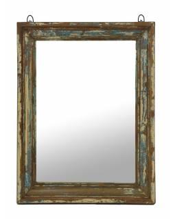 Zrcadlo v rámu z teakového dřeva, 45x6x60cm