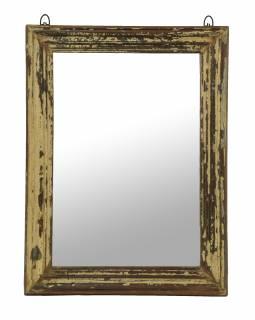 Zrcadlo v rámu z teakového dřeva, 45x4x60cm