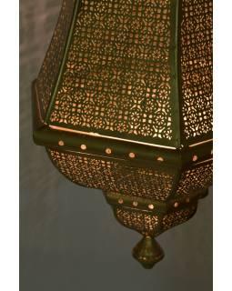 Kovová lampa v orientálním stylu, zlatá, uvnitř zlatá, 40x40x90cm