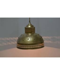 Kovové stínidlo, zlatý design, 32x32x30cm