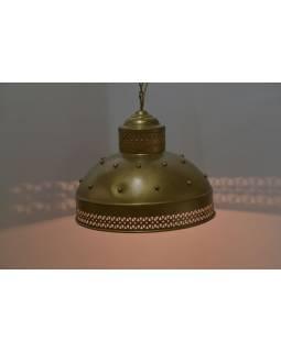 Kovové stínidlo, zlatý design, 35x35x30cm