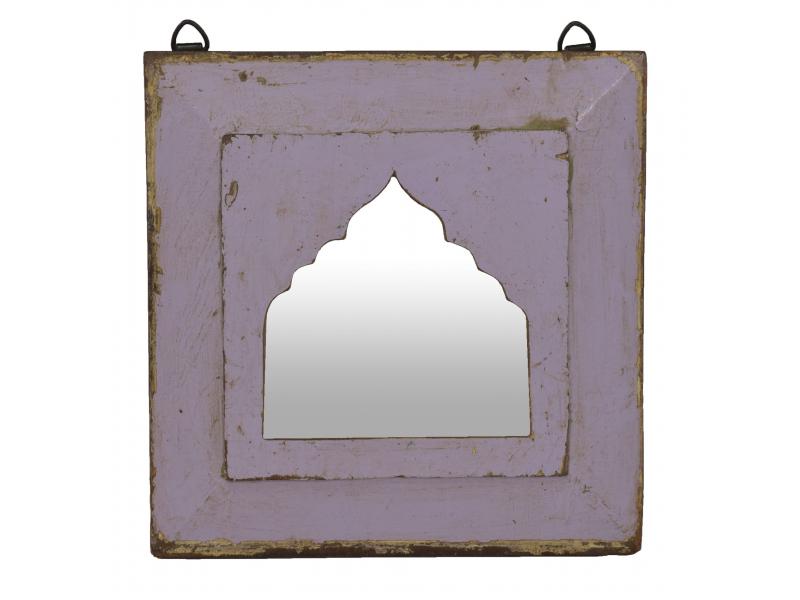 Zrcadlo v rámu z teakového dřeva, 28x3x28cm