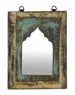 Zrcadlo v rámu z teakového dřeva, 24x3x31cm