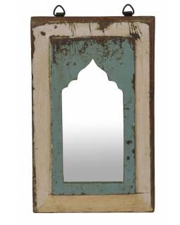 Zrcadlo v rámu z teakového dřeva, 22x4x35cm