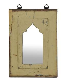 Zrcadlo v rámu z teakového dřeva, 21x3x30cm