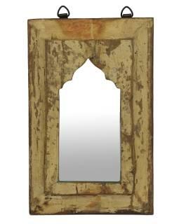 Zrcadlo v rámu z teakového dřeva, 21x3x34cm