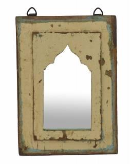 Zrcadlo v rámu z teakového dřeva, 22x3x30cm