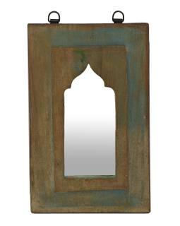 Zrcadlo v rámu z teakového dřeva, 20x3x32cm