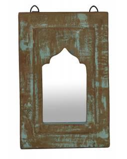 Zrcadlo v rámu z teakového dřeva, 21x3x32cm