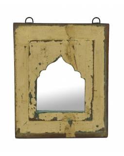 Zrcadlo v rámu z teakového dřeva, 24x3x28cm