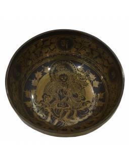 """Tibetská mísa, """"Gulpa"""", gravírovaná s designem, průměr 27cm"""