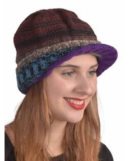 Čepice, Visor cap, kšilt, vlna, podšívka, multibarevné