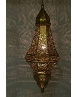 Kovová lampa v orientálním stylu, zlatá, 37x37x85cm