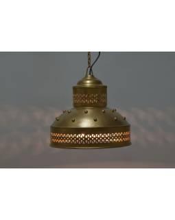 Kovové stínidlo, zlatý design, 28x28x30cm