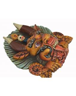 Dřevěná maska, Cheppu, barvený, 26x13x30cm