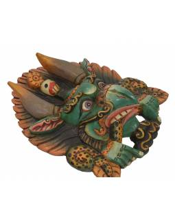 Cheppu dřevěná maska, barvený, 26x13x30cm