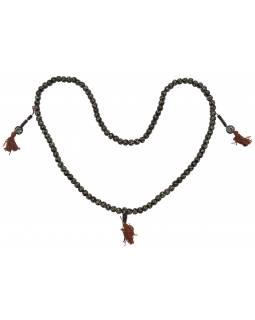 Kostěná Mala, 108 korálků, průměr 10mm, délka 48cm + střapec 2cm