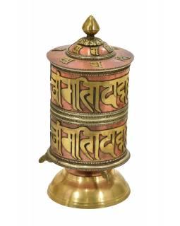 Stolní modlitební mlýnek, mantry, 23cm
