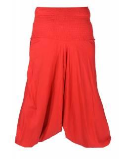 Červené turecké kalhoty s potiskem Thistle design, bobbin