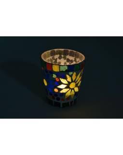 Lampička, skl.mozaika, kónická, průměr 8cm, výška 8,5cm