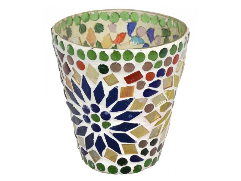 Lampička, skl.mozaika, kónická, průměr 9cm, výška 9,5cm