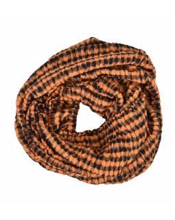 Šátek, viskóza, návlek, lurex+lycra, dvoubarevný, 55 x 200 cm