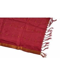 Šátek - polyester, sárí, bordo
