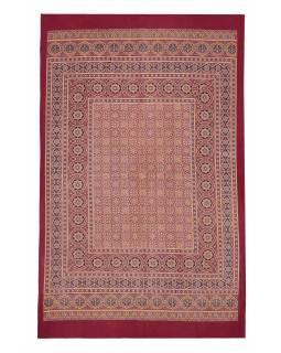 Přehoz na postel s tradičním Indickým vzorem, 226x144cm
