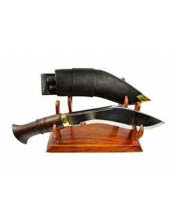 """Khukri nůž, """"Nepal Police"""", 9"""", dřevěná rukojeť, nůž 36cm, čepel 23cm"""