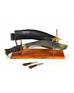 """Khukri nůž, """"World War"""", 11"""", dřevěná rukojeť, nůž 43cm, čepel 29cm"""