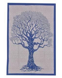 Přehoz na postel se stromem života, 220x136cm