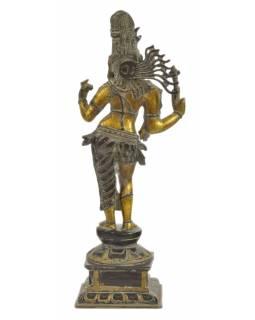 Ardhanarišvára, kovová socha, 20x15x54cm