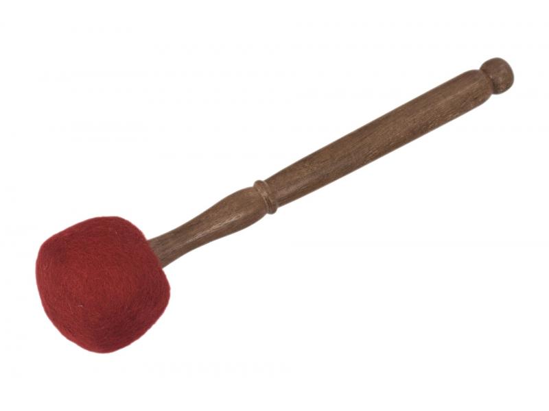 Palička k tibetské míse, filc, dřevěná rukojeť, 33x9cm