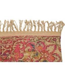Koberec, ručně tkaný, bavlna, 117x200cm