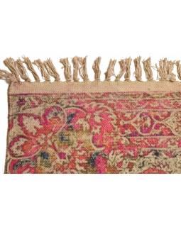Koberec, ručně tkaný, bavlna, 90x166cm