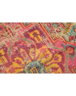 Koberec, ručně tkaný, bavlna, 87x166cm
