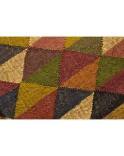Koberec běhoun, ručně tkaný, vlna, juta, 120x196cm