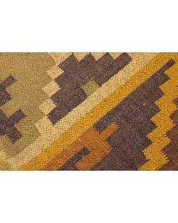 Koberec, ručně tkaný, vlna, juta, 184x290cm