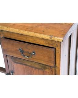 Starý psací stůl z teakového dřeva, 116x53x76cm