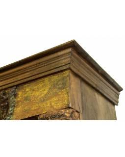 Knihovna z teakového dřeva, 122x45x214cm