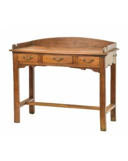 Starý psací stůl z teakového dřeva, 99x45x82cm