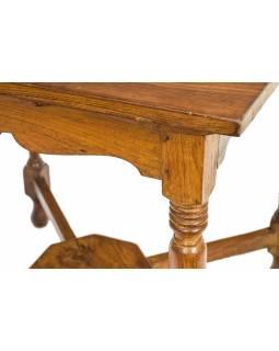 Starý stolek, z teakového dřeva, 74x74x71cm