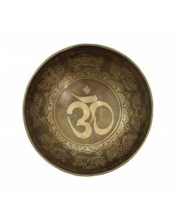 """Tibetská mísa, """"Gulpa"""", gravírovaná s designem, průměr 20cm"""