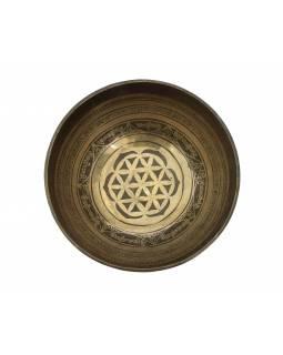 """Tibetská mísa, """"Gulpa"""", gravírovaná s designem, průměr 25cm"""